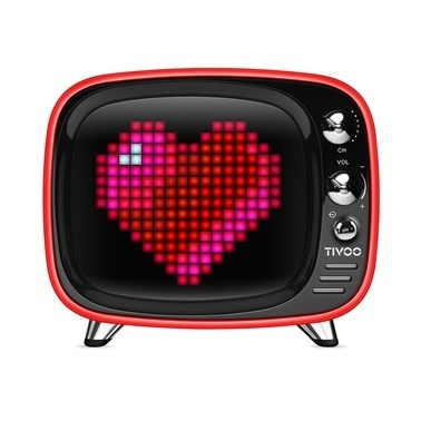 Divoom Divoom Tivoo Pixel Art Smart Kırmızı Bluetooth Hoparlör Kırmızı